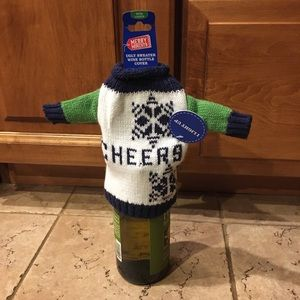 Aldi single Ugly Sweater Wine Bottle Cover Limited